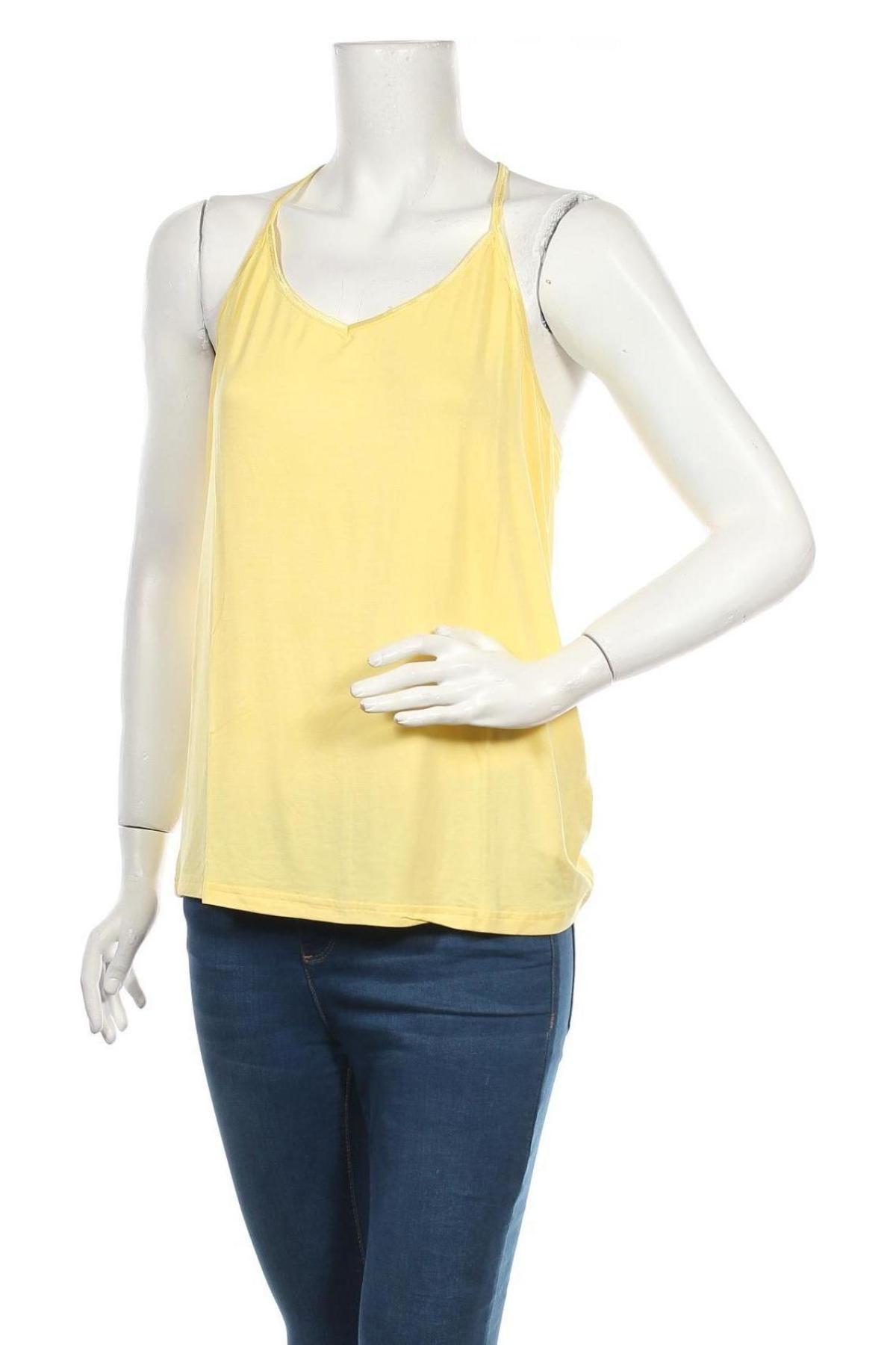 Дамски потник Culture, Размер XXL, Цвят Жълт, 95% вискоза, 5% еластан, Цена 19,50лв.