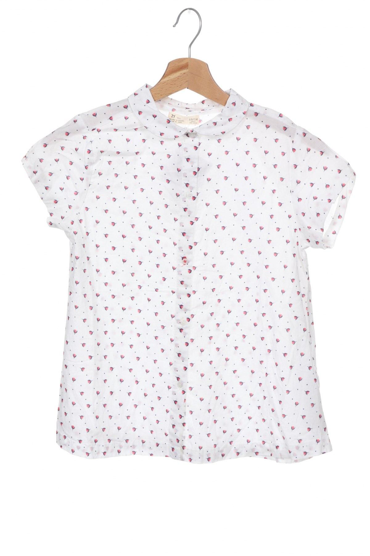 Παιδικό πουκάμισο ZY kids, Μέγεθος 12-13y/ 158-164 εκ., Χρώμα Λευκό, Βαμβάκι, Τιμή 9,80€