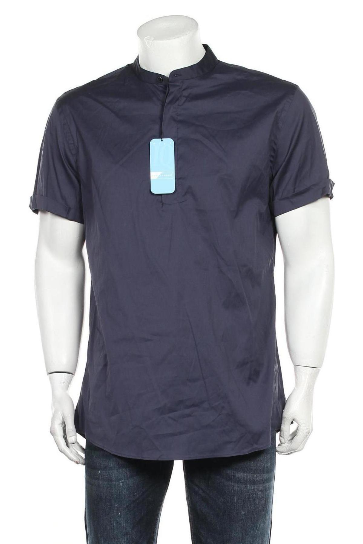 Мъжка тениска Zara, Размер XL, Цвят Син, 5% памук, 20% полиамид, 5% еластан, Цена 21,45лв.
