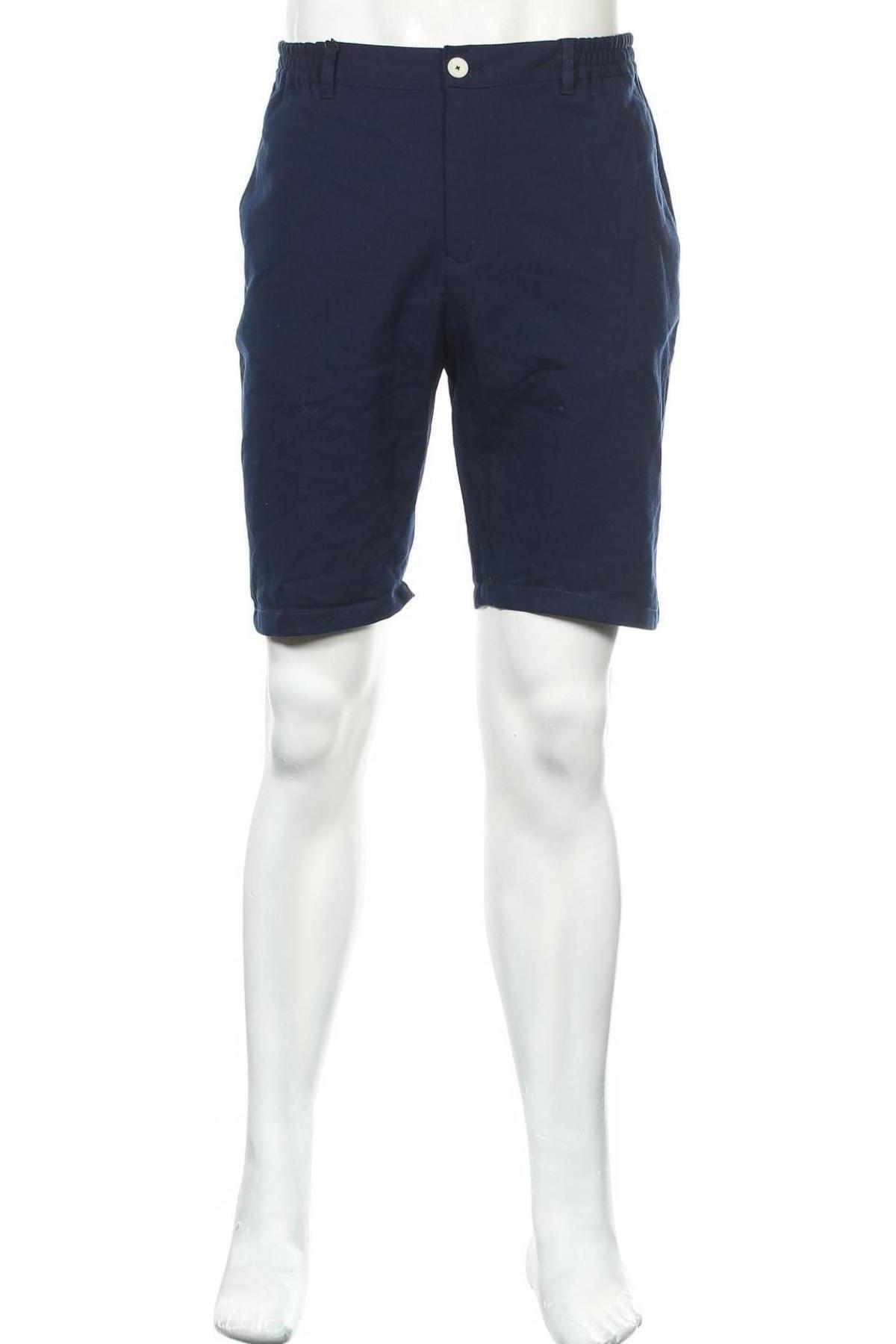 Ανδρικό κοντό παντελόνι Zara, Μέγεθος L, Χρώμα Μπλέ, 48% βαμβάκι, 28% πολυεστέρας, 23% βισκόζη, 1% ελαστάνη, Τιμή 18,95€