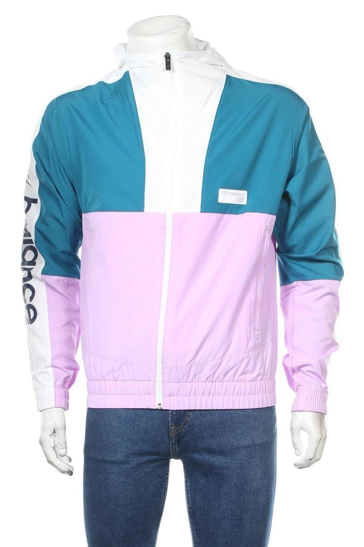 Мъжко спортно яке New Balance, Размер S, Цвят Многоцветен, Полиестер, Цена 149,25лв.