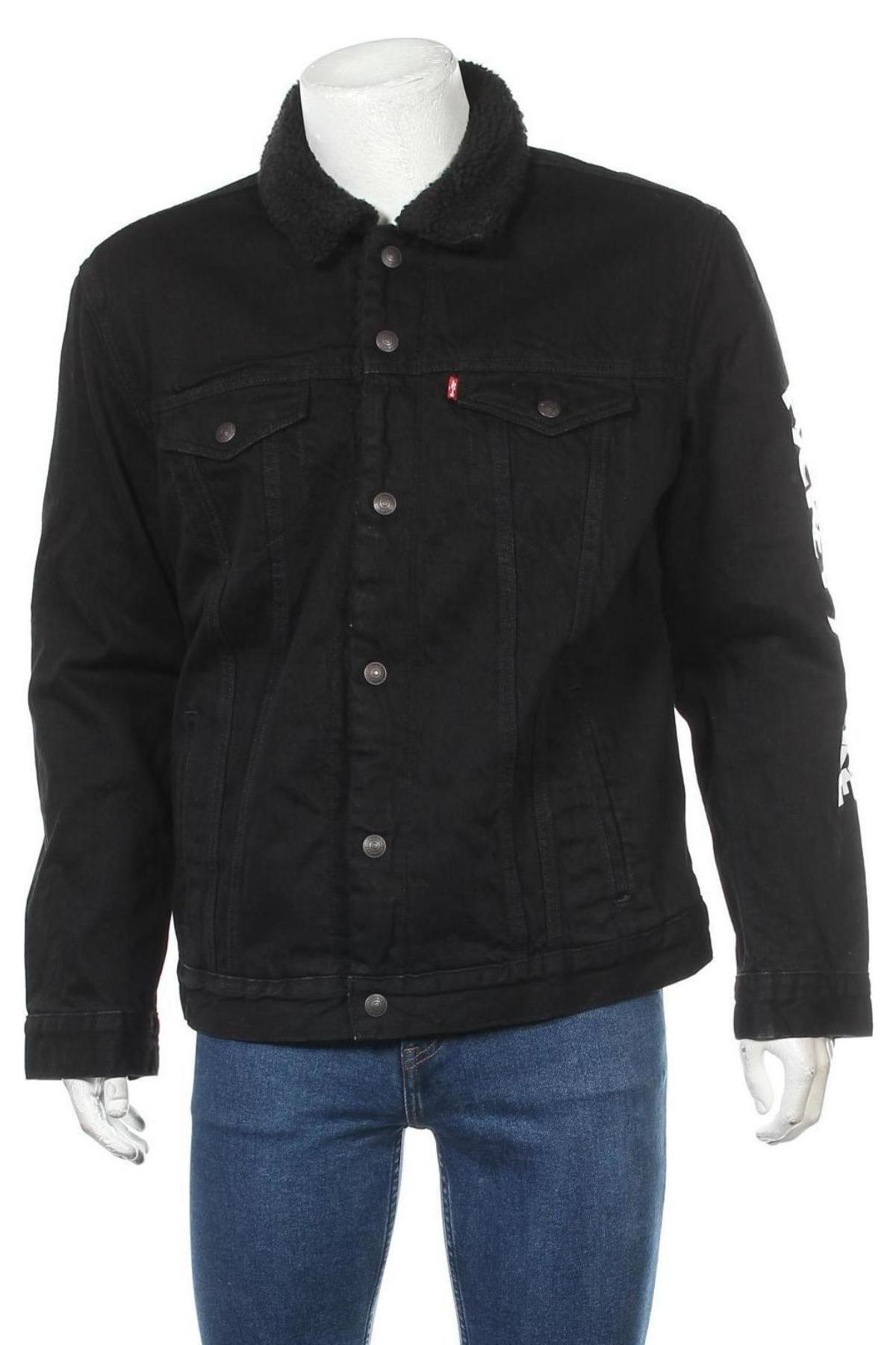Мъжко яке Levi's, Размер XL, Цвят Черен, Памук, Цена 79,18лв.