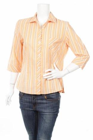 Дамска риза Laura Lebek, Размер L, Цвят Оранжев, 63% памук, 35% полиестер, 2% метални нишки, Цена 8,00лв.