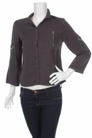 Дамска риза Only, Размер S, Цвят Сив, 100% вискоза, Цена 6,82лв.