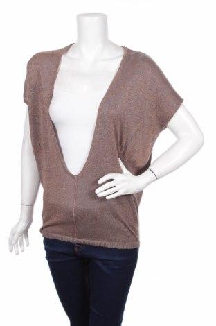 Дамски пуловер Next, Размер M, Цвят Сив, 75% вискоза, 15% полиестер, 10% метални нишки, Цена 7,20лв.