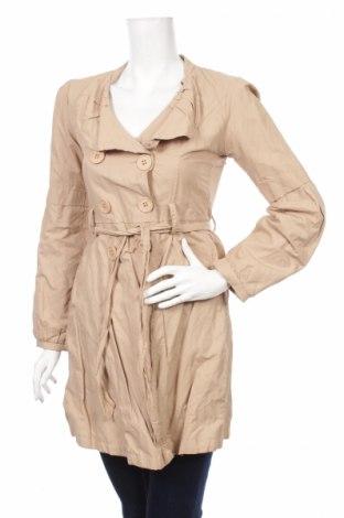 Дамски шлифер, Размер S, Цвят Бежов, 95% полиестер, 5% еластан, Цена 14,75лв.