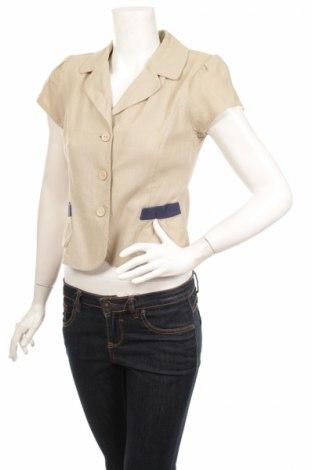 Дамско сако Alia, Размер M, Цвят Бежов, 55% лен, 45% вискоза, Цена 12,00лв.