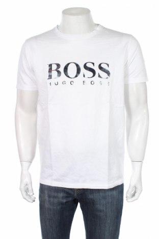 Мъжка тениска Boss, Размер L, Цвят Бял, Памук, Цена 69,00лв.