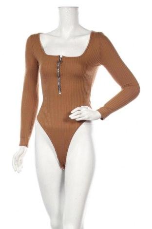 Dámska blúzka - body  Boohoo, Veľkosť S, Farba Hnedá, 95% polyester, 5% elastan, Cena  13,92€