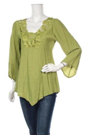 Γυναικεία μπλούζα 2 Biz, Μέγεθος M, Χρώμα Πράσινο, 100% βισκόζη, Τιμή 10,39€