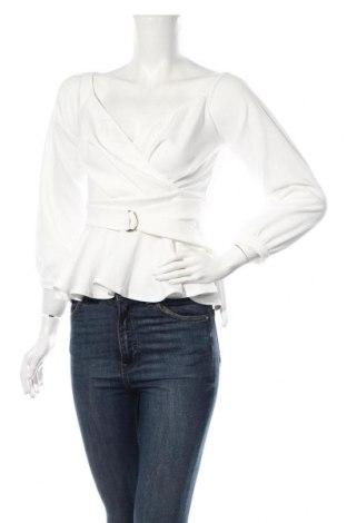 Dámska blúza Boohoo, Veľkosť M, Farba Biela, 95% polyester, 5% elastan, Cena  12,37€