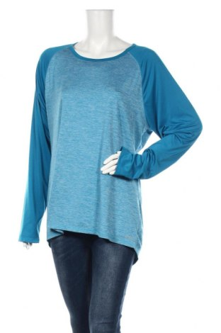 Дамска спортна блуза Champion, Размер XXL, Цвят Син, 92% полиестер, 8% еластан, Цена 6,93лв.