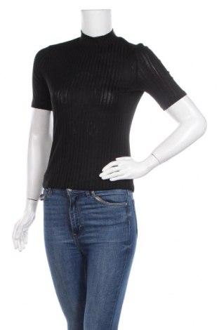 Γυναικεία μπλούζα H&M, Μέγεθος S, Χρώμα Μαύρο, 55% πολυεστέρας, 45% βισκόζη, Τιμή 9,74€