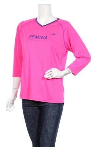 Дамска блуза New Balance, Размер XL, Цвят Розов, Полиестер, Цена 3,14лв.