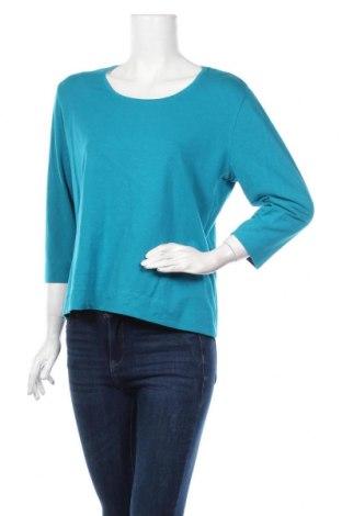 Γυναικεία μπλούζα Promiss, Μέγεθος XXL, Χρώμα Μπλέ, 47% βαμβάκι, 47% μοντάλ, 6% ελαστάνη, Τιμή 12,34€