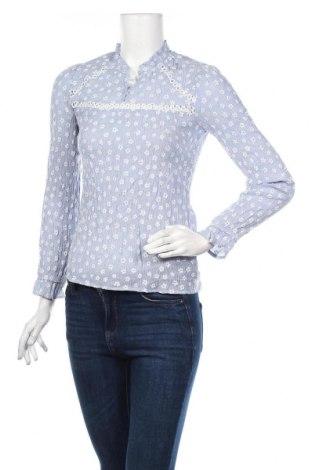 Дамска блуза Zara, Размер XS, Цвят Син, Цена 25,94лв.