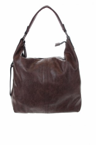 Γυναικεία τσάντα, Χρώμα Καφέ, Δερματίνη, Τιμή 18,84€