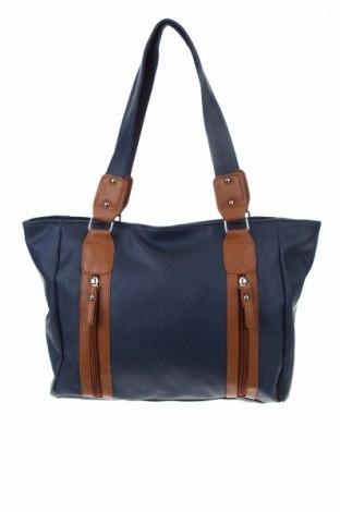 Γυναικεία τσάντα, Χρώμα Μπλέ, Δερματίνη, Τιμή 17,28€