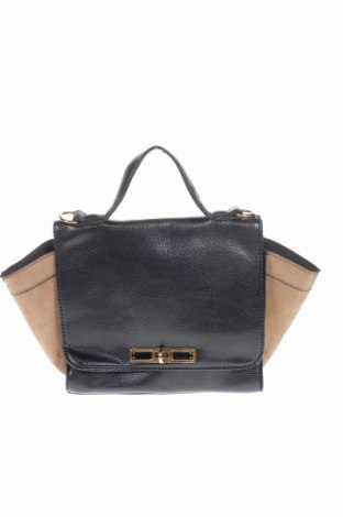 Дамска чанта Atmosphere, Цвят Черен, Еко кожа, текстил, Цена 21,84лв.