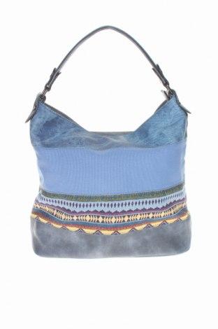 Damska torebka Bpc Bonprix Collection, Kolor Niebieski, Eko skóra, materiał tekstylny, Cena 90,00zł