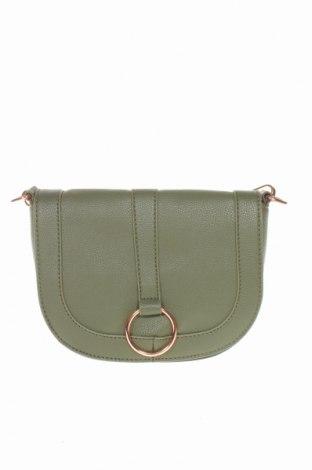 Дамска чанта Bpc Bonprix Collection, Цвят Зелен, Еко кожа, Цена 27,00лв.