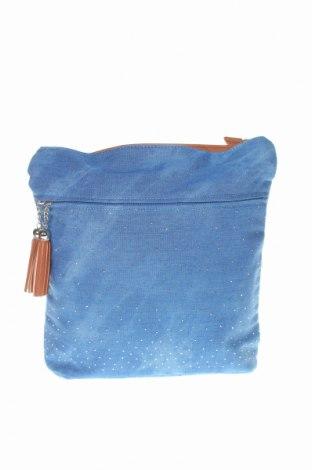 Дамска чанта Bpc Bonprix Collection, Цвят Син, Текстил, еко кожа, Цена 31,50лв.