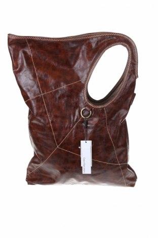 Damska torebka Calvin Klein Jeans, Kolor Brązowy, Eko skóra, Cena 567,00zł
