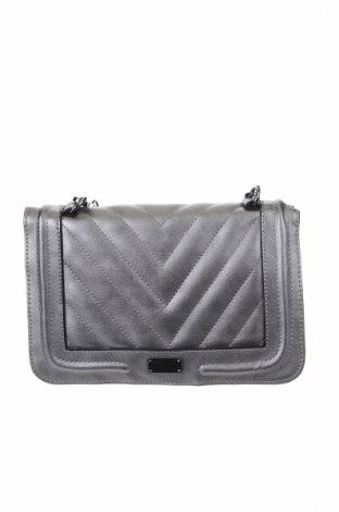 Γυναικεία τσάντα Cox, Χρώμα Ασημί, Δερματίνη, Τιμή 40,27€