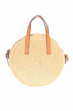 Γυναικεία τσάντα H&M, Χρώμα  Μπέζ, Άλλα υλικά, Τιμή 18,86€