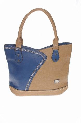 Γυναικεία τσάντα Manumar, Χρώμα Μπλέ, Δερματίνη, Τιμή 29,23€