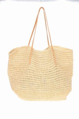 Γυναικεία τσάντα Merona, Χρώμα  Μπέζ, Άλλα υλικά, γνήσιο δέρμα, Τιμή 25,92€