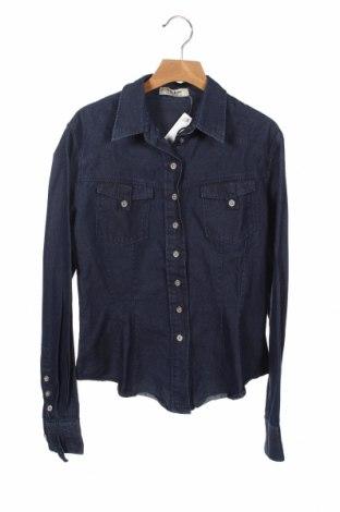 Дамска риза Acne, Размер S, Цвят Син, Памук, Цена 57,00лв.