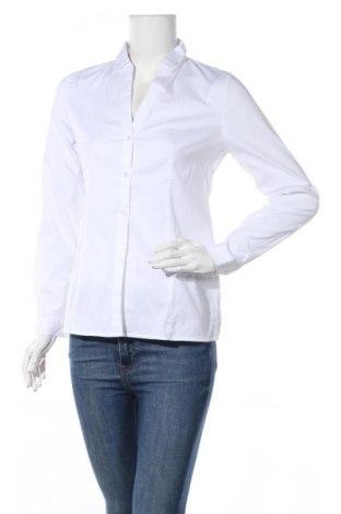 Дамска риза Esprit, Размер S, Цвят Бял, 77% памук, 20% полиамид, 3% еластан, Цена 17,64лв.