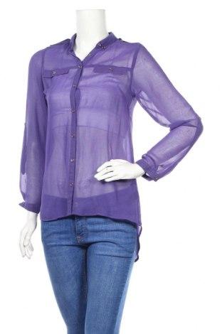 Дамска риза George, Размер M, Цвят Лилав, 100% полиестер, Цена 6,76лв.