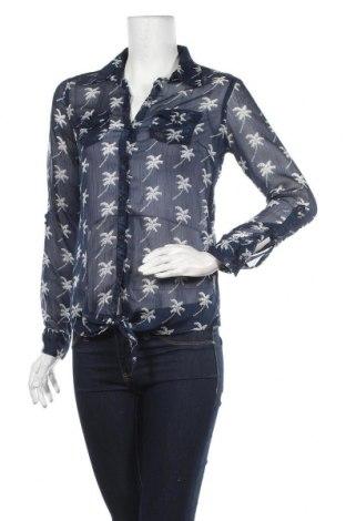 Дамска риза Miss America, Размер XS, Цвят Син, Полиестер, Цена 5,40лв.