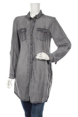 Γυναικείο πουκάμισο Vero Moda, Μέγεθος L, Χρώμα Γκρί, 100% lyocell, Τιμή 11,72€