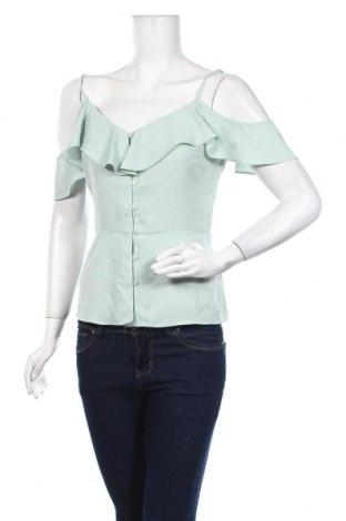Дамска риза Warehouse, Размер M, Цвят Зелен, 100% полиестер, Цена 28,42лв.