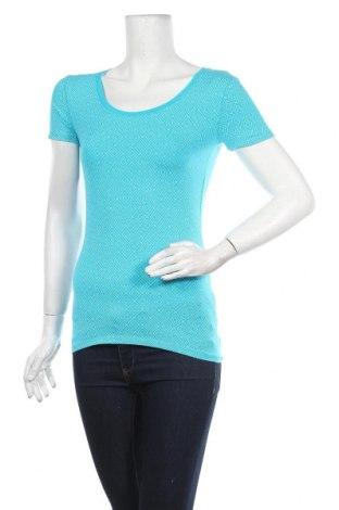 Дамска тениска C&A, Размер XS, Цвят Син, 95% памук, 5% еластан, Цена 13,51лв.