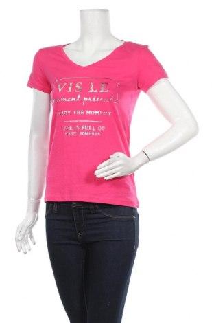 Дамска тениска Jean Pascale, Размер XS, Цвят Розов, Памук, Цена 16,89лв.