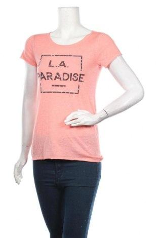 Дамска тениска Q/S by S.Oliver, Размер XS, Цвят Розов, 57% полиестер, 43% памук, Цена 29,25лв.
