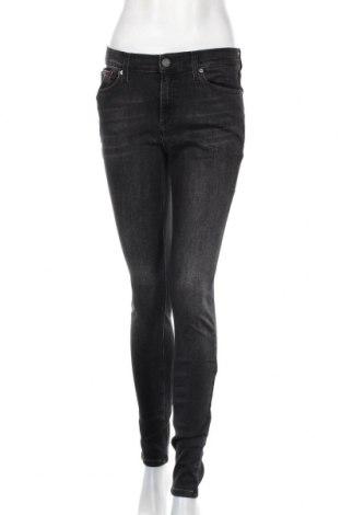 Дамски дънки Tommy Hilfiger, Размер L, Цвят Сив, 90% памук, 8% други тъкани, 2% еластан, Цена 116,35лв.