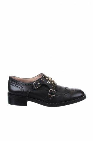Γυναικεία παπούτσια Maje, Μέγεθος 40, Χρώμα Μαύρο, Γνήσιο δέρμα, Τιμή 130,34€