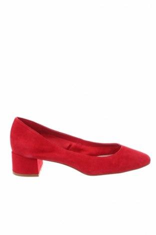 Γυναικεία παπούτσια Mango, Μέγεθος 38, Χρώμα Κόκκινο, Φυσικό σουέτ, Τιμή 40,36€