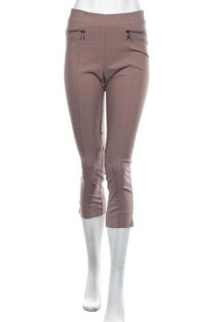 Дамски панталон Canda, Размер S, Цвят Кафяв, 70% вискоза, 26% полиамид, 4% еластан, Цена 3,00лв.
