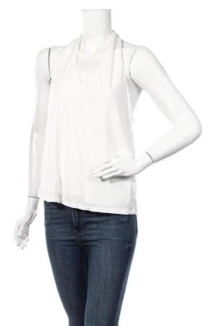 Γυναικείο αμάνικο μπλουζάκι Massimo Dutti, Μέγεθος L, Χρώμα Λευκό, Βισκόζη, Τιμή 9,74€