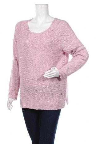 Дамски пуловер Andrea, Размер L, Цвят Розов, 65% акрил, 35% полиамид, Цена 6,56лв.