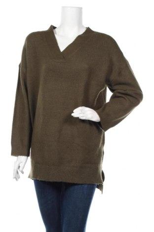 Дамски пуловер Body Flirt, Размер XL, Цвят Зелен, 75% полиакрил, 22% полиестер, 3% еластан, Цена 12,96лв.