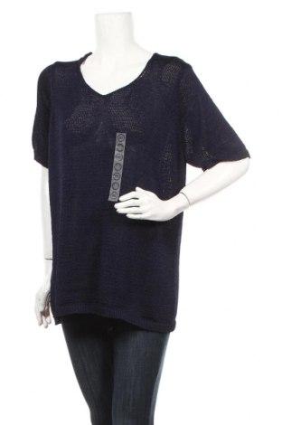 Γυναικείο πουλόβερ Canda, Μέγεθος XXL, Χρώμα Μπλέ, Πολυεστέρας, Τιμή 23,38€
