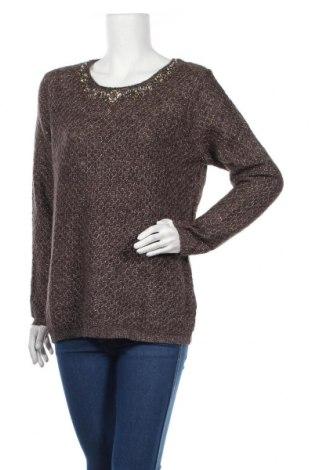 Γυναικείο πουλόβερ Canda, Μέγεθος L, Χρώμα Καφέ, 93%ακρυλικό, 5% πολυεστέρας, 2% μεταλλικά νήματα, Τιμή 15,59€