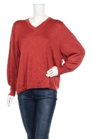 Γυναικείο πουλόβερ Canda, Μέγεθος L, Χρώμα Κόκκινο, 87% βισκόζη, 9% πολυεστέρας, 4% μεταλλικά νήματα, Τιμή 16,89€